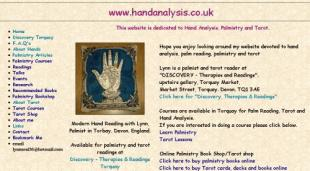 screenshot of old site